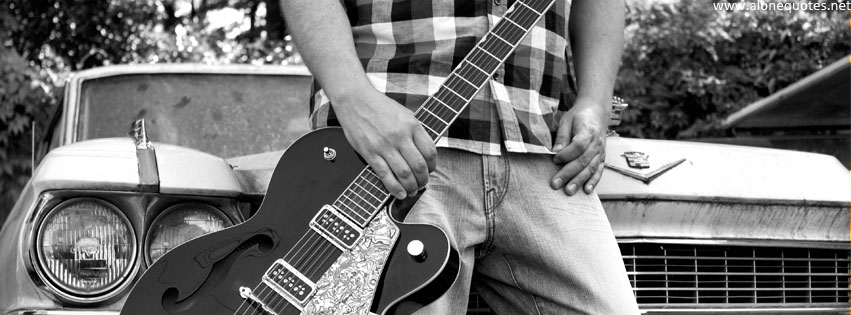 Alone Boy With Guitar Facebook Cover Photos