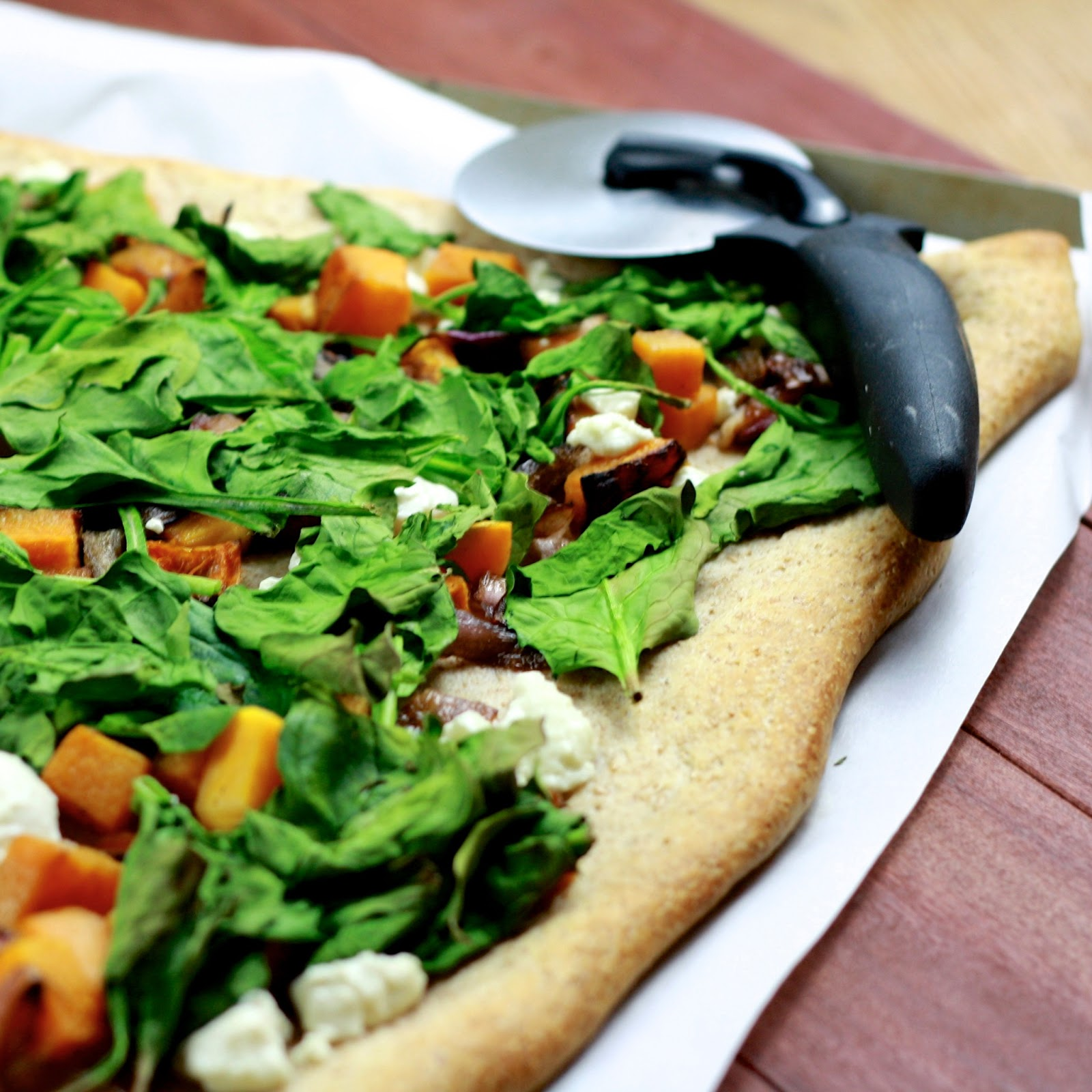spinach squash goat butternut squash spinach and goat cheese pizza ...