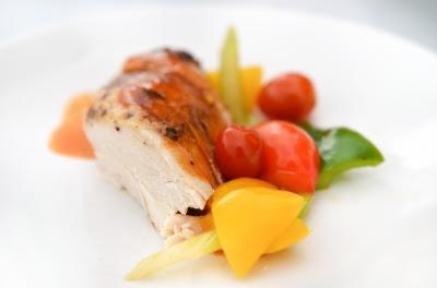 petto di pollo marinato in salsa bbq
