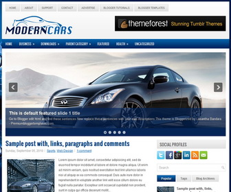 ModernCars 2 Column Blogger Template