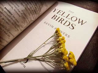 bookandacuppa, book and a cuppa, book & a cuppa, The Yellow Birds, Kevin Powers, war, Iraq, America, novel, literature, warfare, flowers, death, fiction, paperback