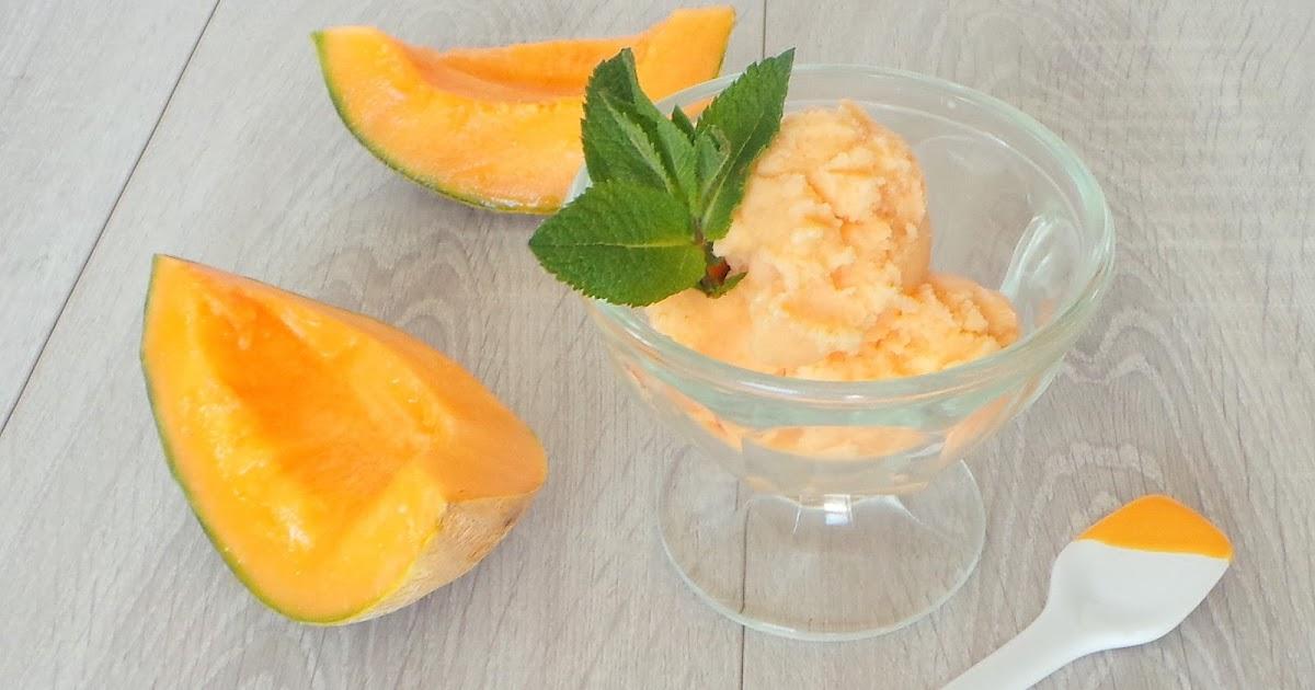 My culinary curriculum glace au melon melon icecream - Glace au melon avec sorbetiere ...