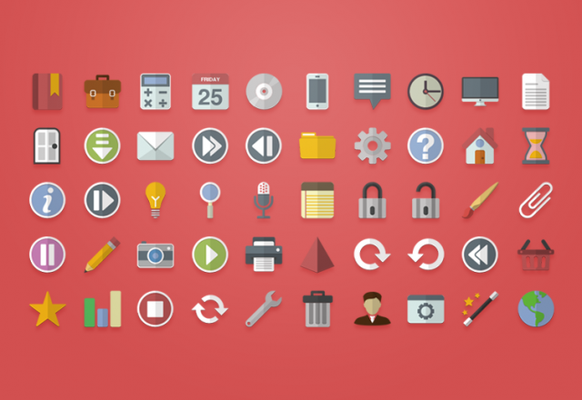 640x440x1 Vector Flat Icons 800x518 2c 10 Amazing Free Download Flat Icons PSD