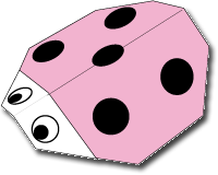 Cara Membuat Origami Kumbang Pink