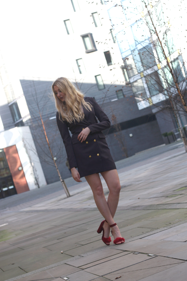 missguided blazer dress fashion blog