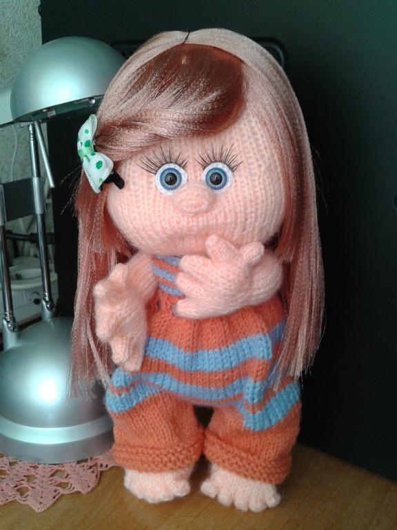 Как связать куклу своими руками спицами 78