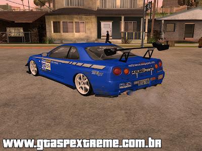 Nissan Skyline R34 Custom para GTA San Andreas