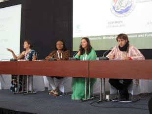 Celebrating Youth and Gender Day at UN Biodiversity Convention in 2012