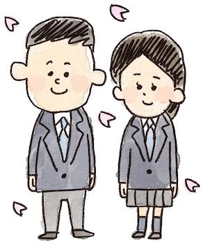 新入生のイラスト(中学生・高校生)