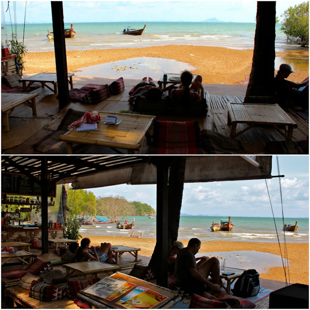 restaurant on the beach in railay beach thailand