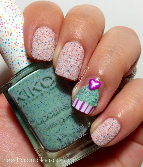 kiko cupcake 655 cupcake heart nails