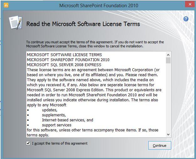 Install SharePoint Foundation Installed on Windows 7 bit