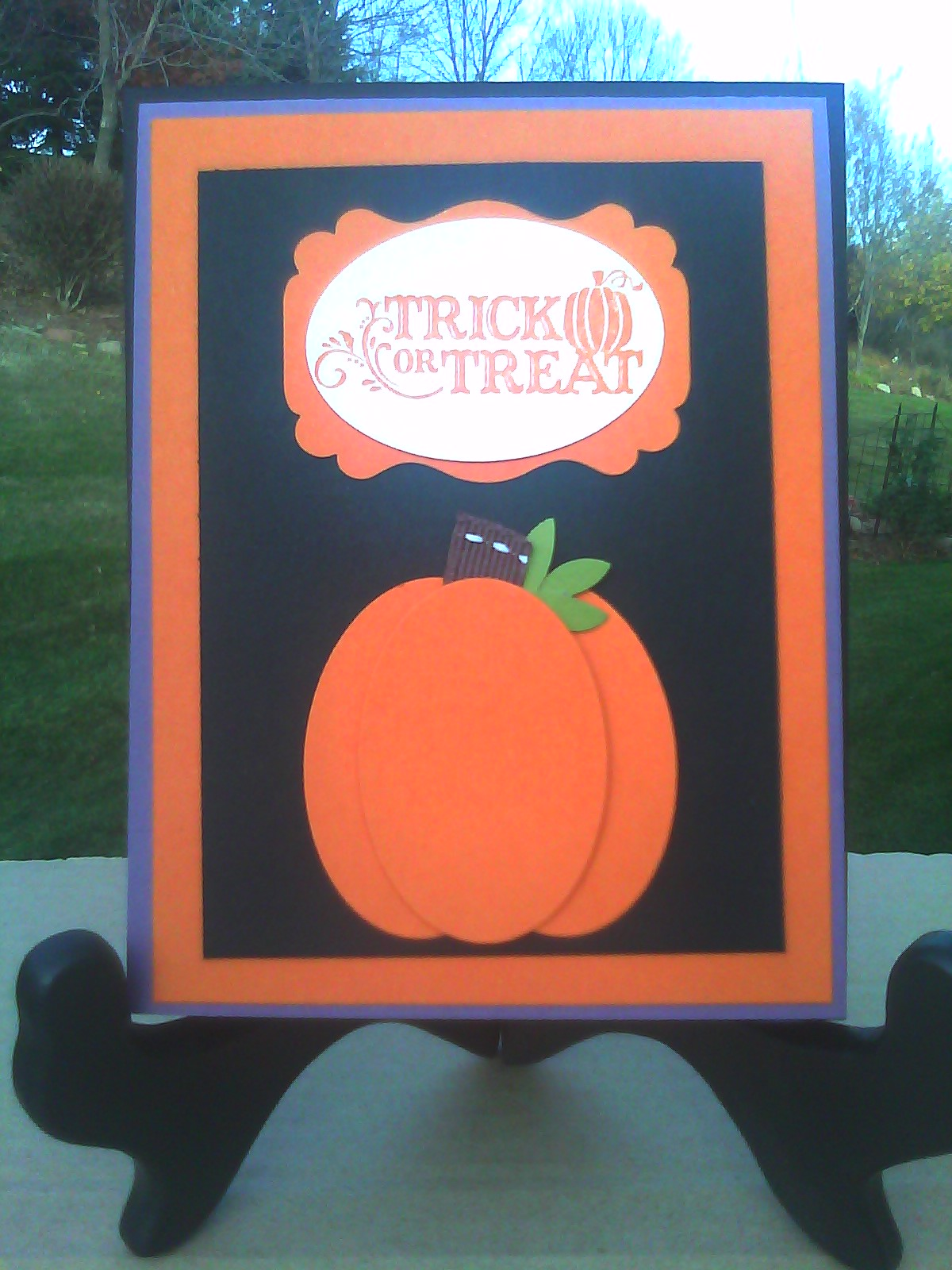 sistochris scrapbooking and paper crafts: simple halloween greeting
