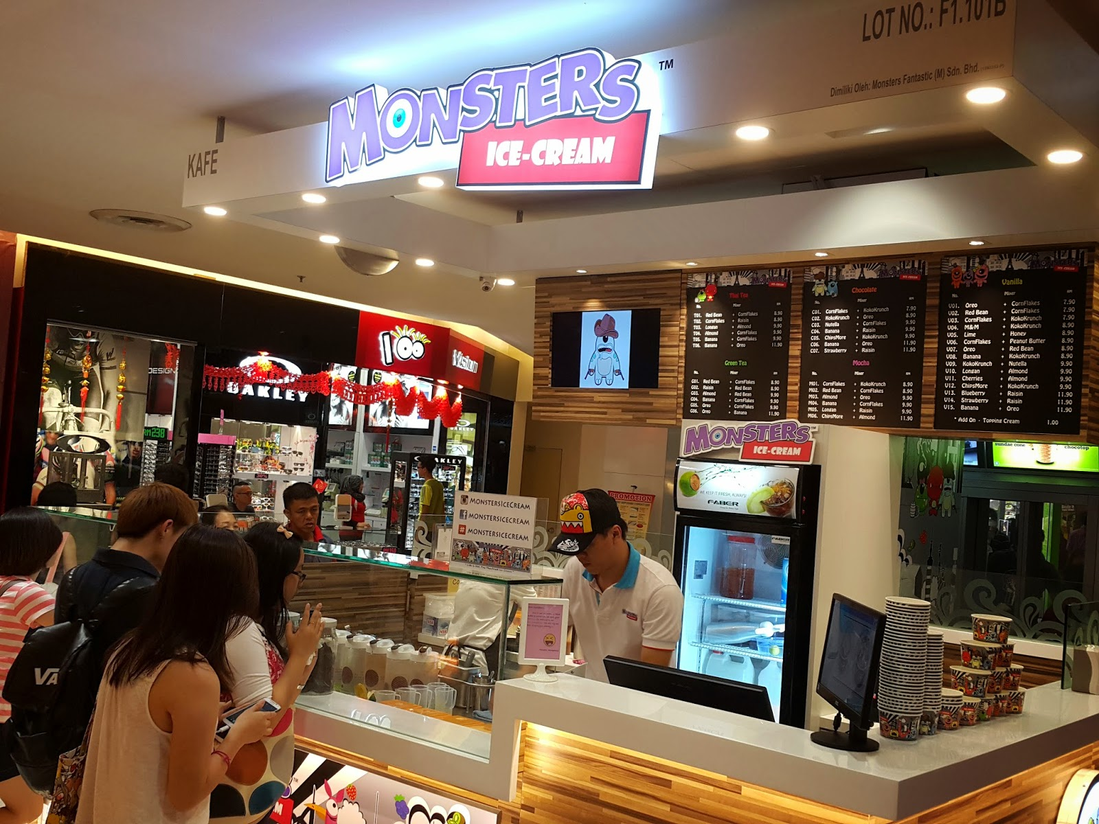 Michelle noms monsters ice cream sunway pyramid monsters ice cream ccuart Choice Image