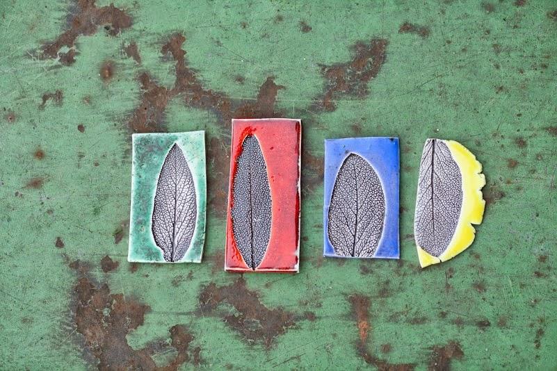 Broszki z liściem szałwii lekarskiej