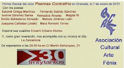 2012, Primer Ciclo de Poemas Contrafrío: Recitales en Granada