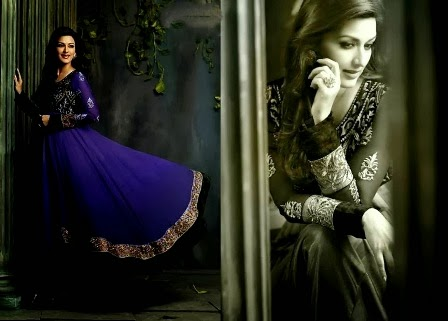 Sonali Bendre Anarkali Suits 2014