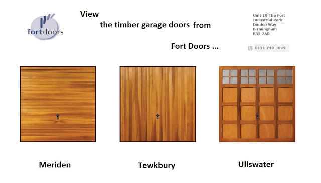 View timber garage doors made in the UK by Fort Doors