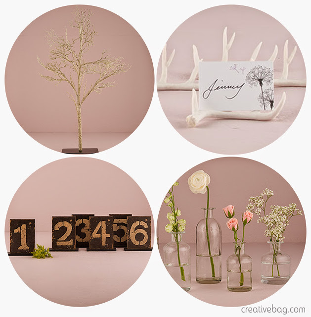 woodland themed elements for the table | Creative Bag