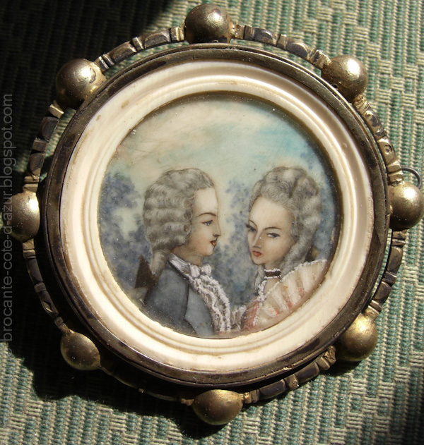 Antiquit s brocante c te d 39 azur portrait sur ivoire a vendre - Vendre des objets sur internet ...