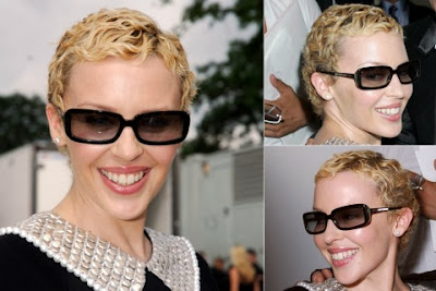 Kylie Minogue Casual Short Hairstyle Curly