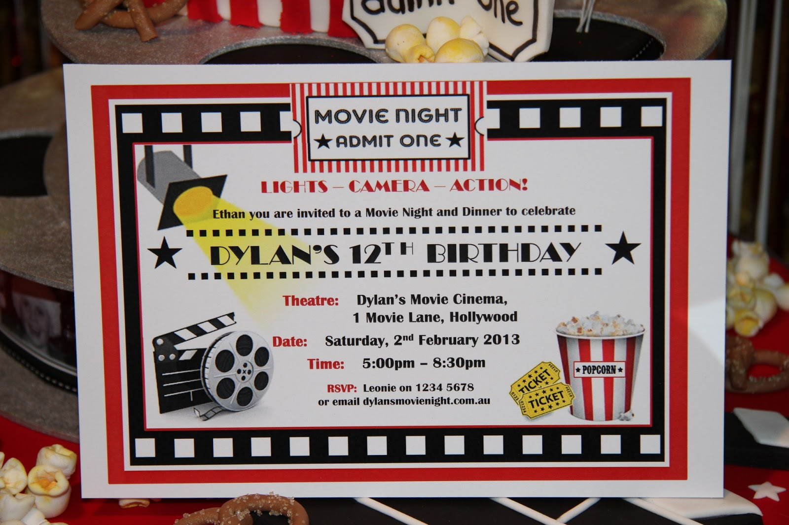 Leonie\'s Cakes and Parties . . . . .: MOVIE NIGHT PARTY