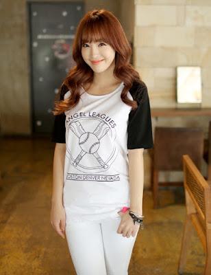 Model Baju Kaos Casual Wanita Korea Cantik