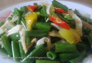 resep tumis kembang bawang jamur tiram