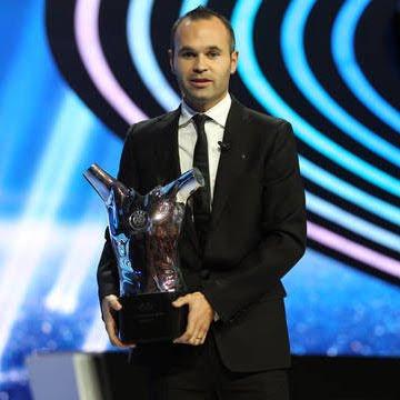 Andrés Iniesta Mejor jugador en Europa 2012