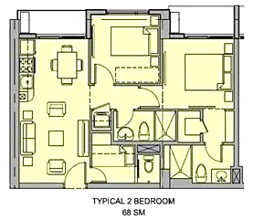 Unit Layout of Seville Residences at Circulo Verde, Condominium in libis, Quezon City