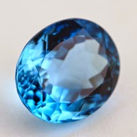 oval swiss blue topaz gemstone