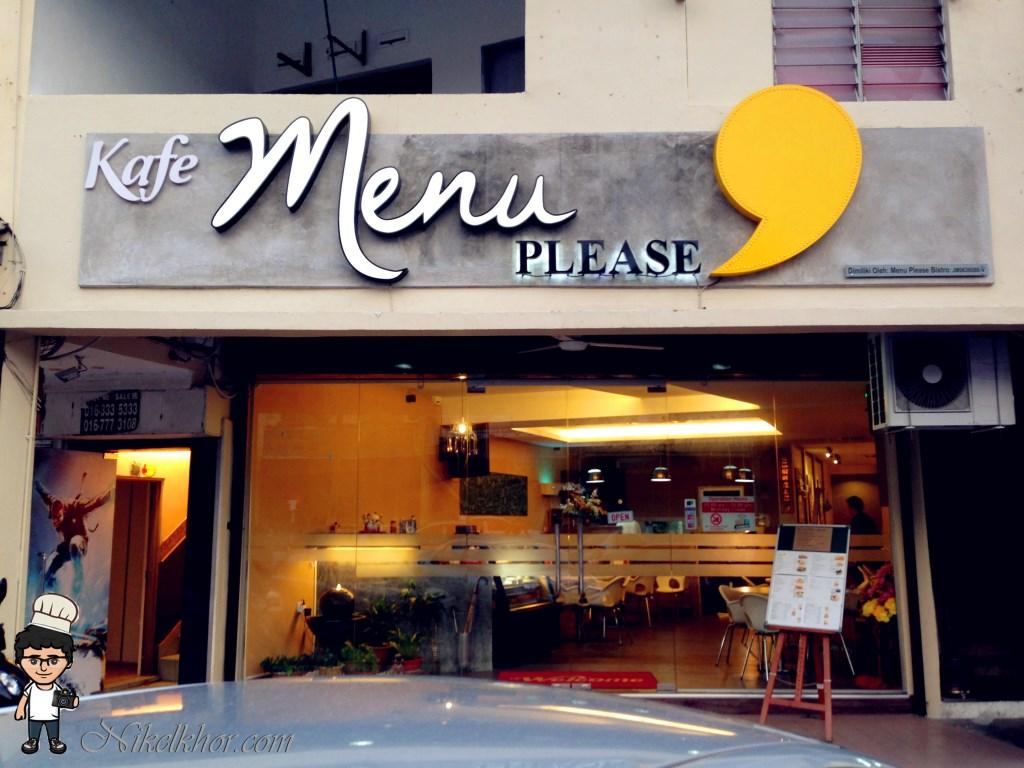 Menu please bistro taman maju jaya johor for Shops exterior design