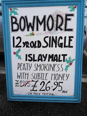 Sign for Islay Whiskey