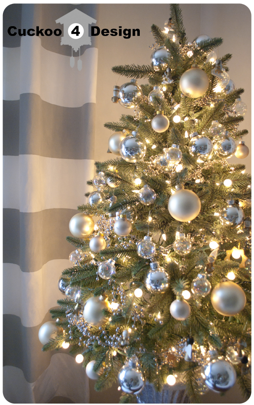 How To Decorate A Christmas Tree With Balls Amusing Cultivate Create Christmas Style Study Silver And Gold Review