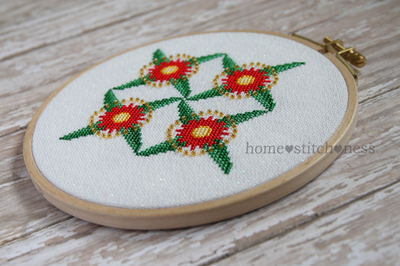 Flowering Gum Christmas Ornament cross stitch design by homestitchness