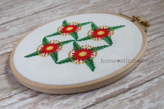 Flowering Gum Christmas Ornament cross stitch design by homestitchness