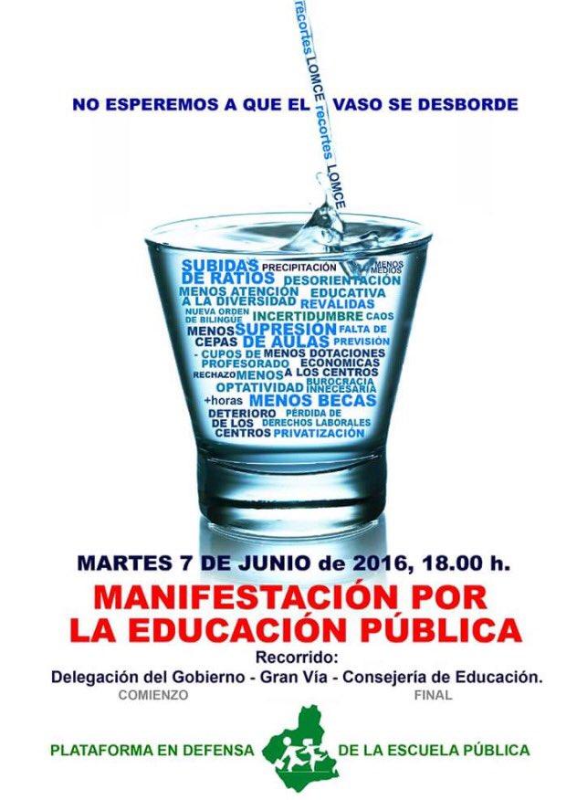 7 junio Manifestación Enseñanza Pública