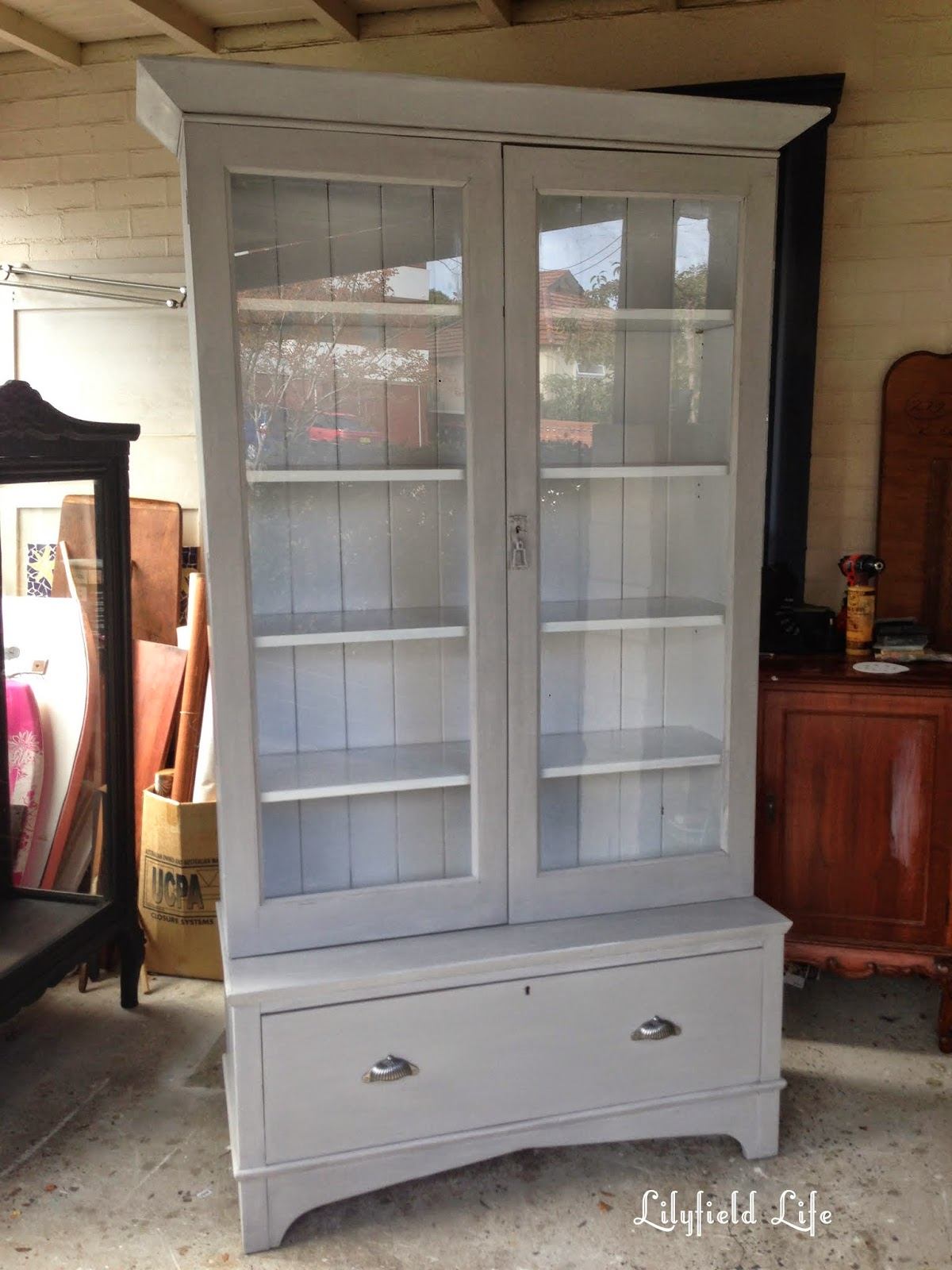 french style hand painted bookcase Lilyfield Life