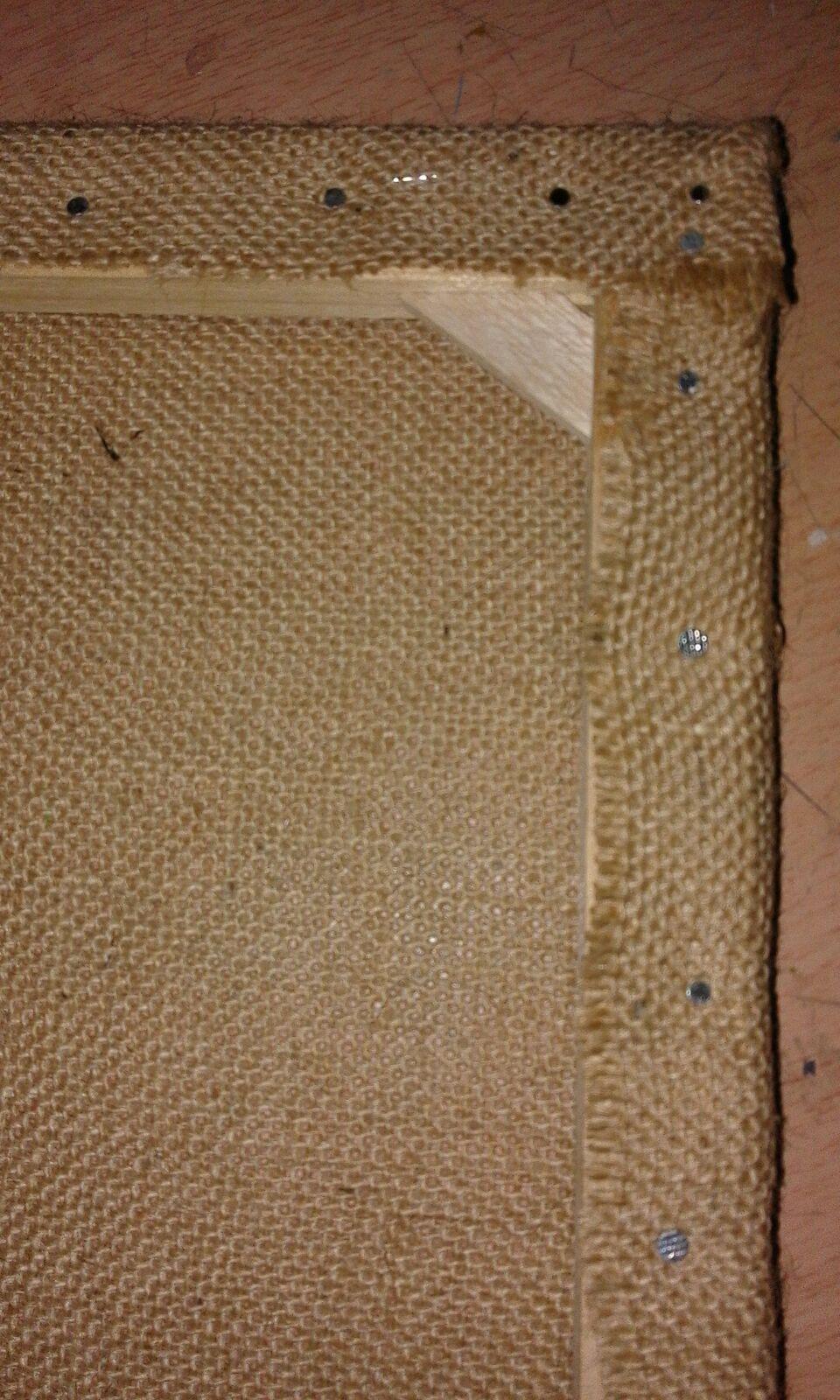 Manualidades y otros entretenimientos como hacer un - Cuadros con tela de saco ...