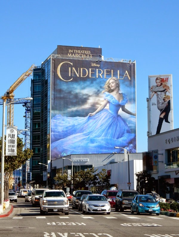 Giant Cinderella movie billboard Sunset Strip
