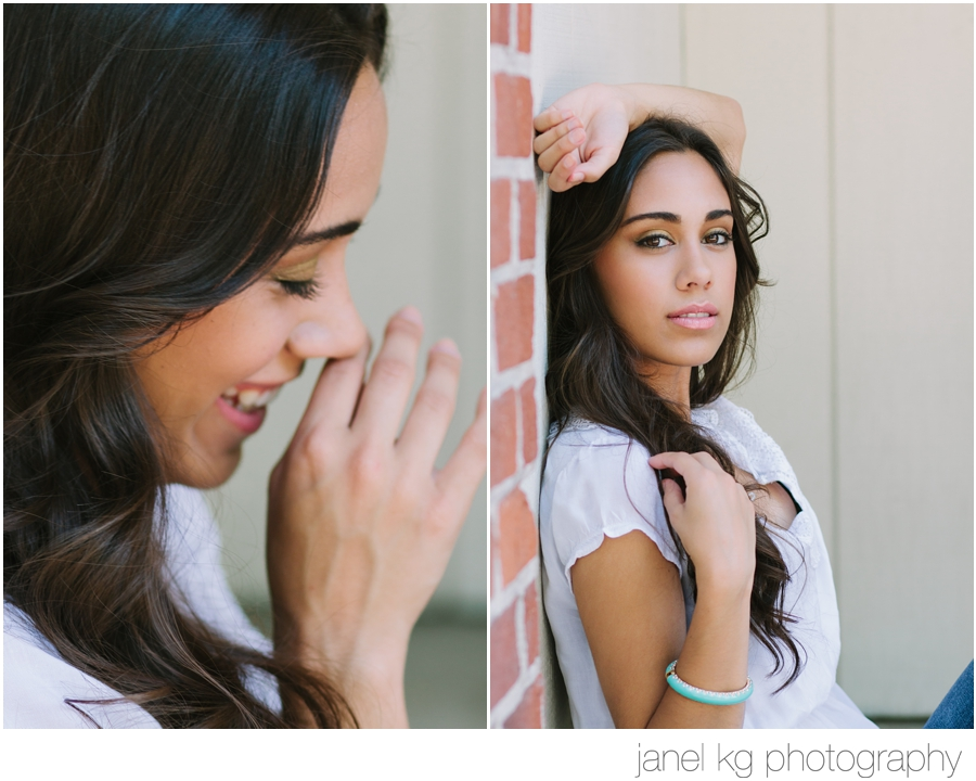 Elaina is lovely during her senior portrait session with Janel KG Photography in downtown Sacramento