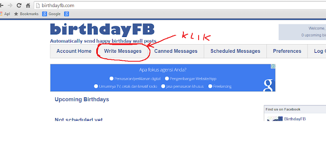 birthday.com. cara memberi ucapan selamat ulang tahun di facebook secara otomatis