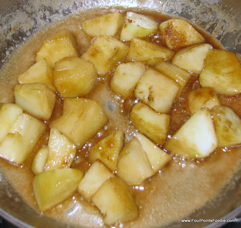 The Four Points Foodie: Vanilla Bean Oatmeal with sauteed ...