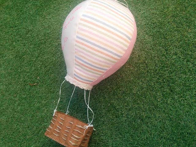 Globo aerostatico para decoración infantil 100% artesanal
