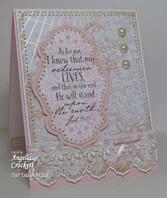 ODBD Earth Verses, Vintage Pattern Mini 2, ODBD Custom Antique Label and Border Die Set, Card Designer Angie Crockett
