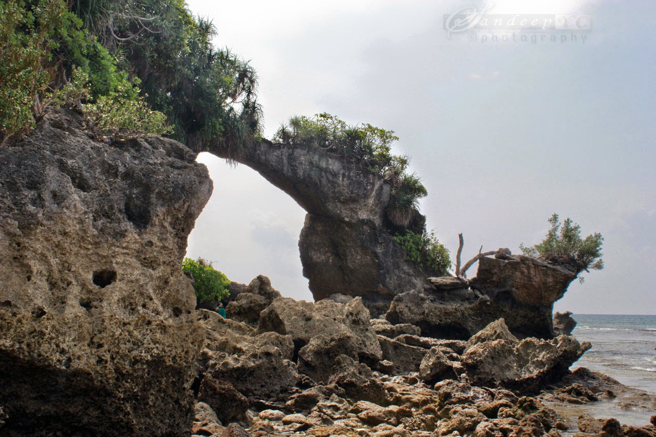 The Natural rock formation in the form of bridge