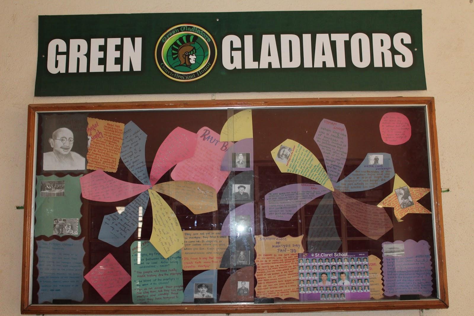 Claretschooltoday Creative Display Of Bulletin Boards January