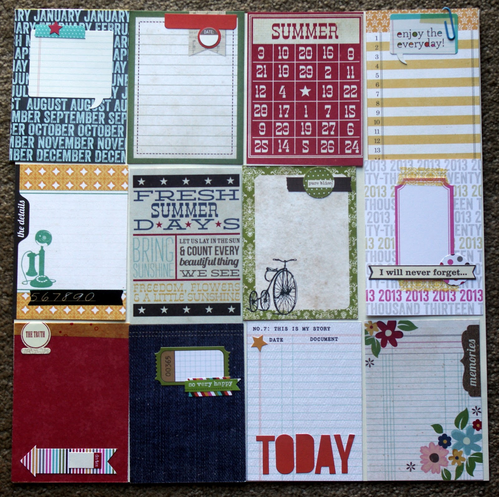 Scrappin' Patch Scrapbook Supplies NZ: Project Life 2013