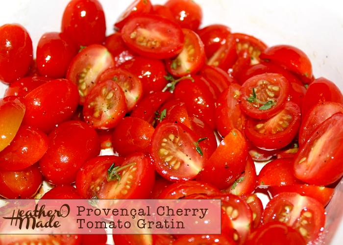 Provençal Cherry Tomato Gratin