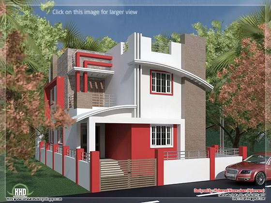 1375 square feet 128 square meter 153 square yards tamilnadusouth india style 4 bedroom villa design house specification - Home Design In India
